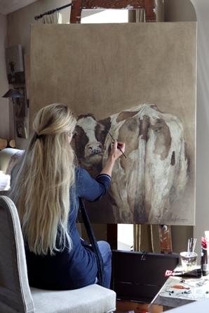 Landelijke kunst door annabelle lanfermeijer - Meubels om zelf te schilderen zelfs ...